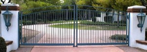 Automated, wrought iron entry gate