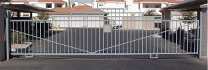 Automated sliding entry gate system